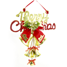 Merry Christmas Ornament Jingle Bells Xmas Decoration Tree Hanging Party Color Random(China)