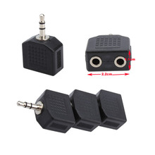 3PCS 3.5mm to 3.5mm Audio Earphone Jack Splitter Adapter 1 Male to 2 Female Jack Plug for Mobilephone Tablet Computer PC(China)