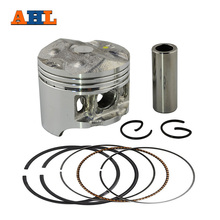 AHL Bore Size 49mm Motorcycle Pistons and Rings Clips Pin Kit For HONDA CB250 Jade 250 Hornet 250 MC23 (Oversize 0.5mm)(China)