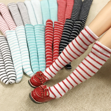 5 Pair Assorted Color Stripe 1/6 Doll Socks & Stocking for Blyth, Pullip, Barbies, Momoko, Azone Doll Accessories Toy(China)
