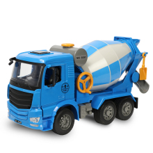 DOUBLE E 1:20 The simulation manually Cement tanker the children's toy car crane truck dump truck mixer truck model(China)
