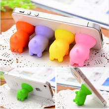 2pcs Cartoon Suction Cup Mini Pig Shape Mobile Phone Holder Stand Universal Cartoon Phone Sucker Holder Storage Holders&Racks ZM(China)
