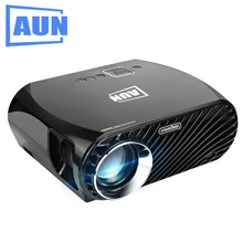 AUN Projector GP100 / Pro 3200 Lumens 1280*800 (Optional Android Projector with Air Mouse, WIFI, Bluetooth Support AC3) LED TV