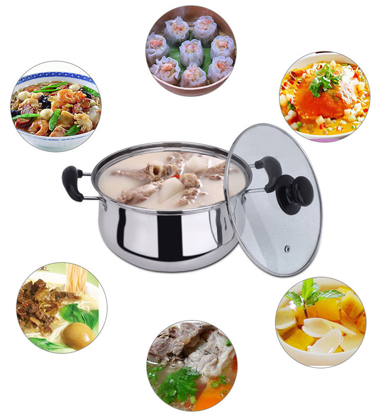 Double bottom pot soup pot