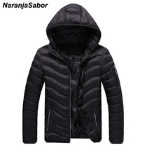 NaranjaSabor Mens Brand Clothing 2017 Winter Men's Thick Coat Warm Padded Men Casual Jackets Male Overcoat Outwear Men's Coats