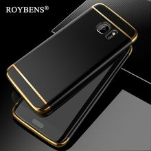 For Samsung Galaxy S7 Edge Case S8 Fashion 3in1 Hard PC Ultra Slim Cover For Apple iPhone 6 6S 7 Plus 5 5S SE Luxury Phone Cases(China)