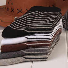 10 pairs/lot Man's Cotton Socks men sox soks high quality stripe tube casual sock free shipping male man gentleman