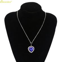 Diomedes Newest Silver Heart Of The Ocean Blue Necklace Crystal Necklace For Women Lady 1PC