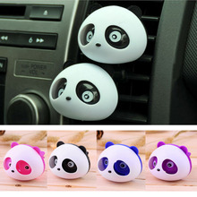2pcs Auto Car Freshener Car Perfume Mini Panda Perfume Cologne Ocean Car Smell Fragrance Perfumes 100 Original Free Shipping XS1