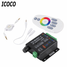ICOCO Sound Audio LED RGB RF Music Controller Touch Remote 2 Channel 12/24V 18A Brand New