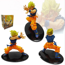 Hot Anime Dragon Ball Z Japanese Figure Son Goku Super Saiyan PVC Action Figure Collectible Model Toy 17CM Y6233