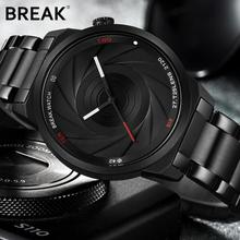 PKR 3,340.71  44% Off | BREAK Photographer Series Unique Camera Style Stainless Strap Men Women Casual Fashion Sport Quartz Modern Gift Wrist Watches