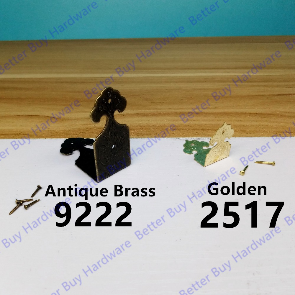 8pcs/lot Decorative Bronze Antique/Golden  Style Box Corner bracket  box wrap box corner protection<br><br>Aliexpress