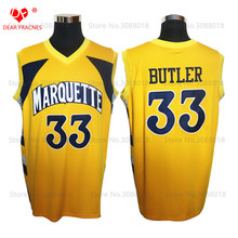 Top College Marquette Golden Eagles #33 Jimmy Butler Jersey Throwback Basketball Jersey Vintage Retro Shirt For Men Stitched(China)
