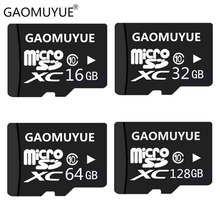 GAOMUYUE Free shipping micro sd card 16GB 32GB 64GB really capacity tf cards 128gb Class10 XC memory card by H2testw test DY10