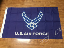 3x5ft High quality United States Air Force Eagle and Star Insignia Blue and White Logo Flag Free Shipping(China)