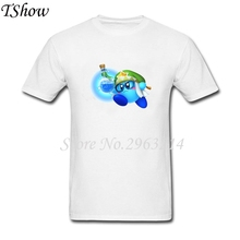 Kirby Men's T-Shirts Cotton Tops Man Short Sleeve Plus Size TShirt For Male Casual XS-XXXL Tees Shirts Printed Clothes Human(China)