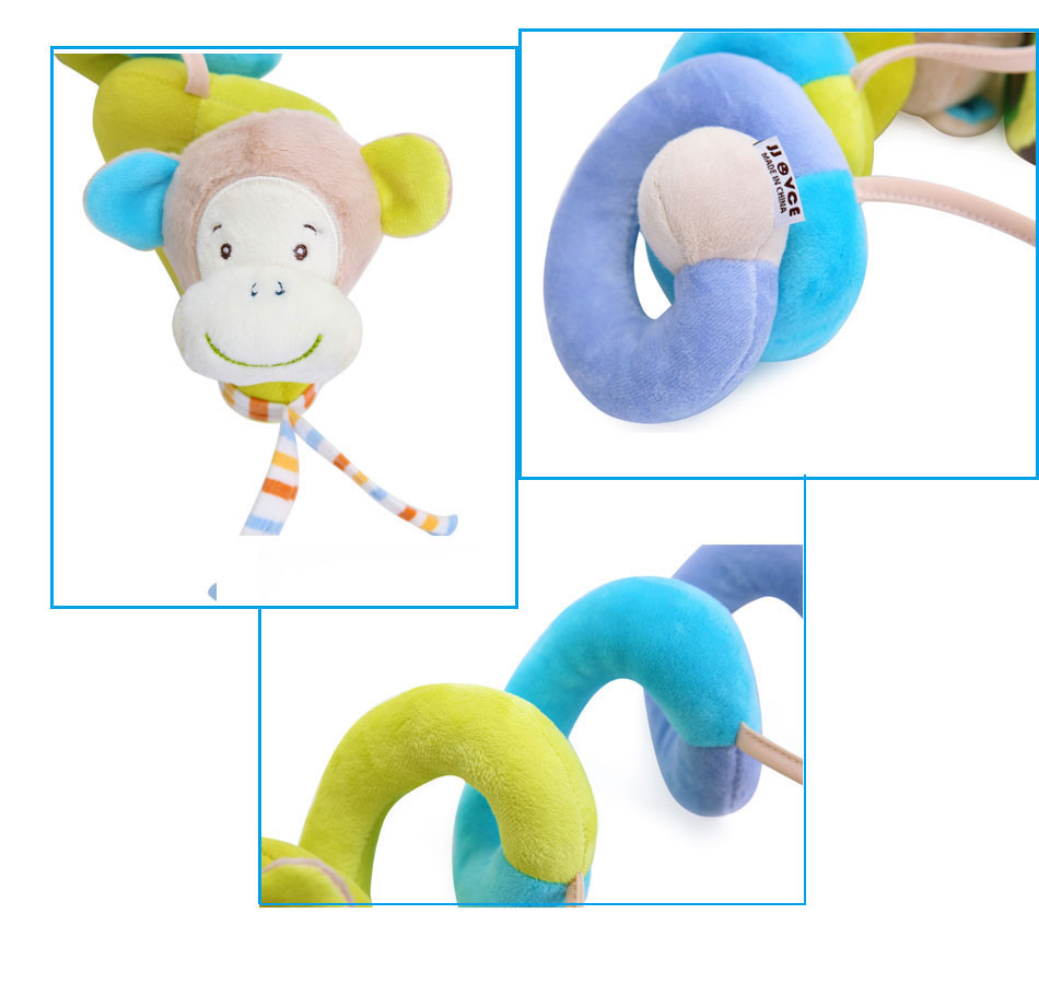 Infant baby toy activity spiral bed stroller bumper with BB device hanging crib rattle kids toys newborn juguete bebe animales 6
