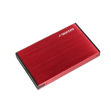 "In stock HDD Case Aluminum Red 2.5"" hdd Enclosure Tool free SATA to USB 3.0 External Hard Disk Drive box for Notebook Desktop PC"