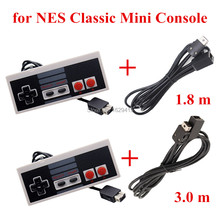 IVYUEEN For NES Classic Mini Entertainment System Console Controller Gamepad with 1.8m / 3.0m 10FT Extension Cable Cord