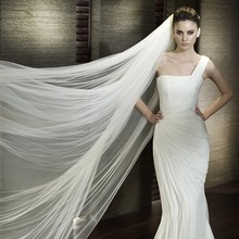 3m Wedding Veil 3 Meters Long Soft Bridal Head With Comb One-layer Lace Veil Ivory White Color Bride Wedding Accessories 2017