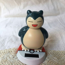 Free Shipping  Retail Package  Swing Under Full Light  No Battery Novelty  Festival Gift Solar Powered Snorlax Gift Doll