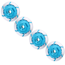 4pcs Blue Aluminum Brake Disc Wheel Adaptor For 1:10 HSP HPI RC Car For Buggy Monster Truck Short Course On-road Flat RC Car