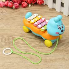 Funny Lovely Cartoon Plastic Xylophone Toy Hand Knock Glockenspiel Piano Toy Educational Musical Toy for Children Kids