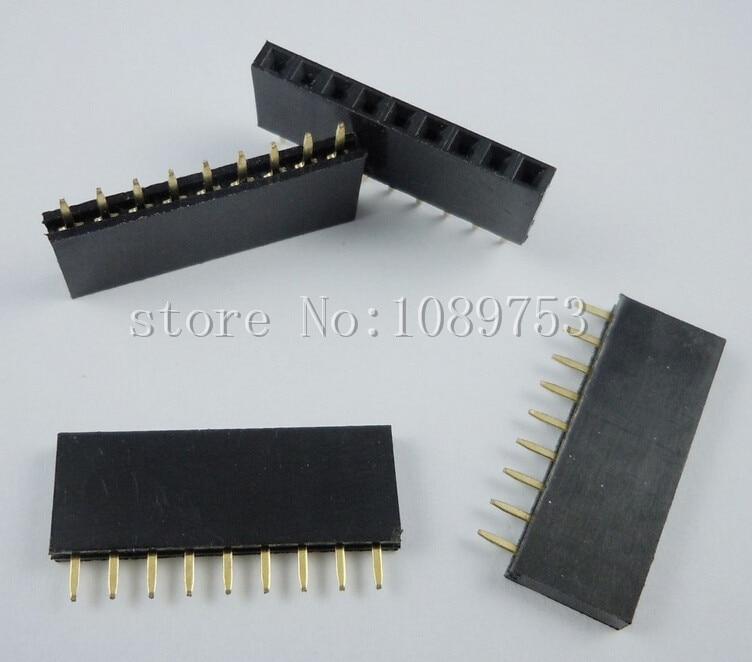 50PCS 9Pin 2.54mm Single Row Straight Female Pin Header 9P Strip PBC<br><br>Aliexpress