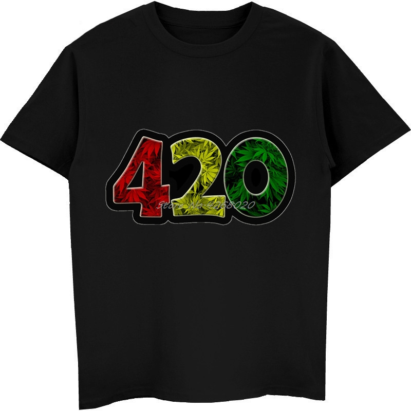 420 Weed Leaf Leaves Dank Funny T-shirt Men's Cotton Short Sleeve T Shirt Casual Male Fitness Shirts Cool Tees Tops Streetwear