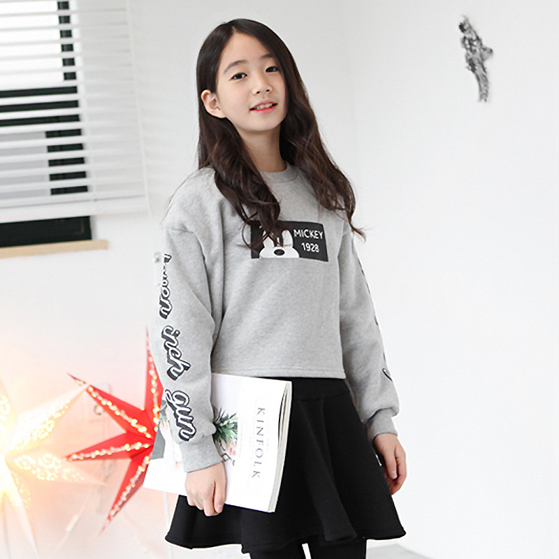 2017 Top Fashion Fashion Cotton Full Letter O-neck Regular Coat New Korean Girls Winter Skirt Suit In Datongjia Sweater <br>