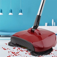 Stainless Steel Sweeping Machine Push Type Hand Push Magic Broom Dustpan Handle Household Cleaning Package Hand Push Sweeper(China)