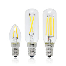 CE&RoHs Retro Edison Bulb E14 LED Filament 2W 4W Candle Luz AC 220V Vintage Glass Lamp Crystal Chandelier Light T25 C7 Type(China)