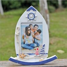 NEW 18.3*3.2*22.5CM Mediterranean Woody Crafts The Sailboat Swing Frame Desktop Picture Frame Table [Creative gifts] A044(China)