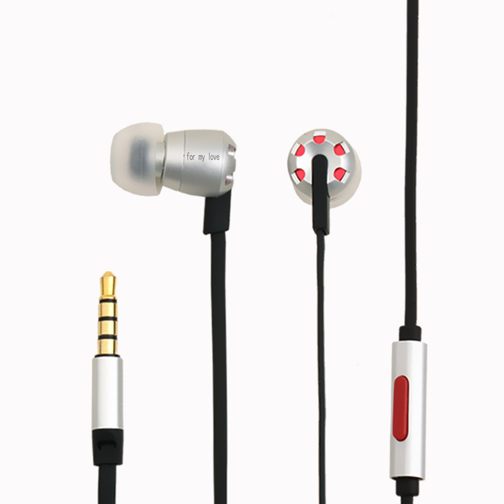 2017 New arrival HT07 In-Ear Wide frequency Response Earphone Dynamic HiFi earphone earpiece Metal Earphone with Microphone<br>