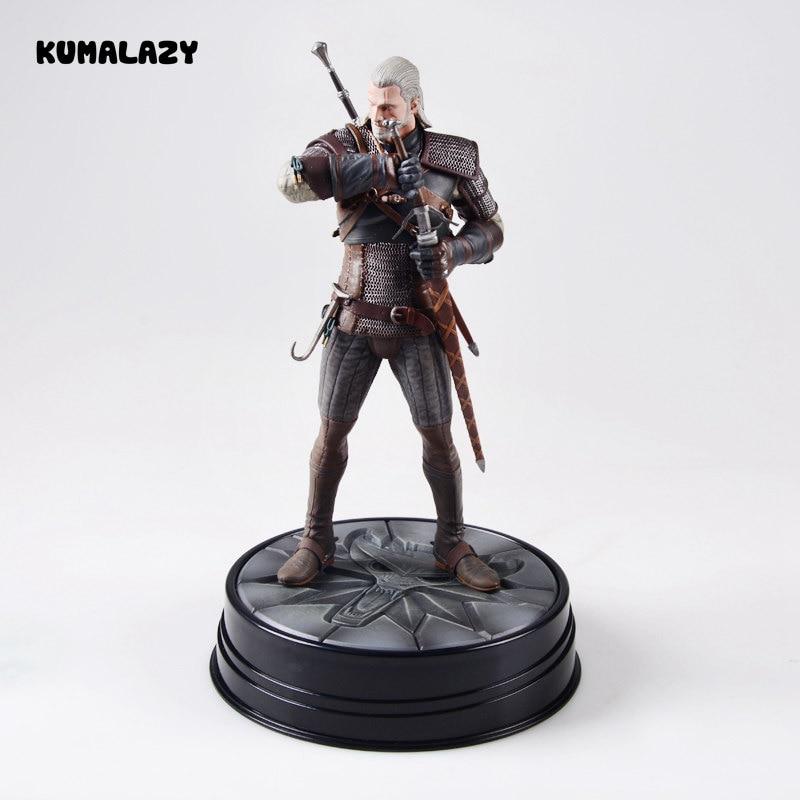 The Witcher 3 Wild Hunt Geralt of Rivia 19 CM PVC Action Figure Figuras Brinquedos Model<br>