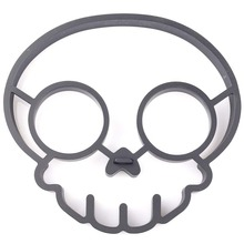 Cute Silicone Side Up Skull Egg Fried Shaped Mould Shaper Ring Kitchen Cooking Tool(China)