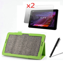4in1 Luxury Magnetic Folio Stand Leather Case Cover +2x Screen Protector +1x Stylus For ASUS Transformer Pad TF303CL TF303 10.1""