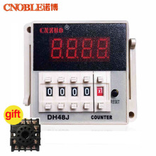 DH48J-A AC220V 3A Digital Counter,Preset 11 Feet Relay With Power Failure Memory Function