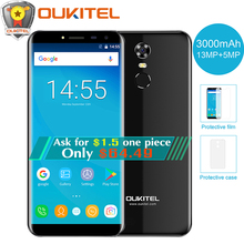 "Oukitel C8 5.5""18:9 Infinity Display Mobile Phone Quad Core 2GB RAM 16GB ROM 13MP Android 7.0 3000mAh Fingerprint Smartphone(China)"