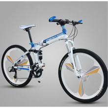 250405-1/24/27 speed aluminum alloy one round folding mountain bike /Folding bike /  student adult cycling/Comfortable cushion