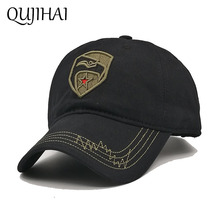QUJIHAI Hat Baseball Cap Snapback Navy Marines Army Cotton Cap Outdoors Sports Hats For Men Women Gorras Planas Bone Hat Male(China)