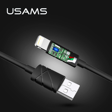 USAMS 1m IOS10 2A Fast Charger Usb Charging Cable for iPhone 5s iphone 7 Date Cable(China)