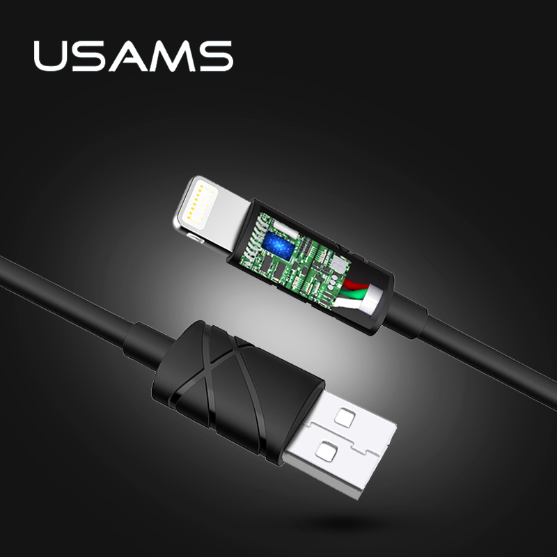 USAMS 1m IOS10 2A Fast Charger Usb Charging Cable for iPhone 5s iphone 7 Date Cable(China (Mainland))