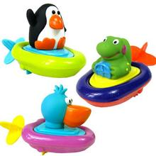 Swimming Bath Toys Penguins Crocodile Sassy Pull Swimming Small Animal Bath Toy Spring Water Gifts Kids Educational Toys
