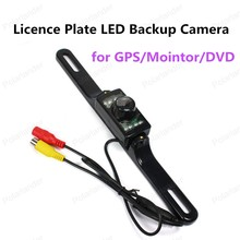 best selling 7 LED Licence Plate Waterproof CMD Rear View Backup Camera Night Vision for GPS/Mointor/DVD