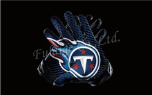 Tennessee Titans Glove 3x5 ft flag 100D Polyester flag 90x150cm NFL custom american football gloves flag(China)