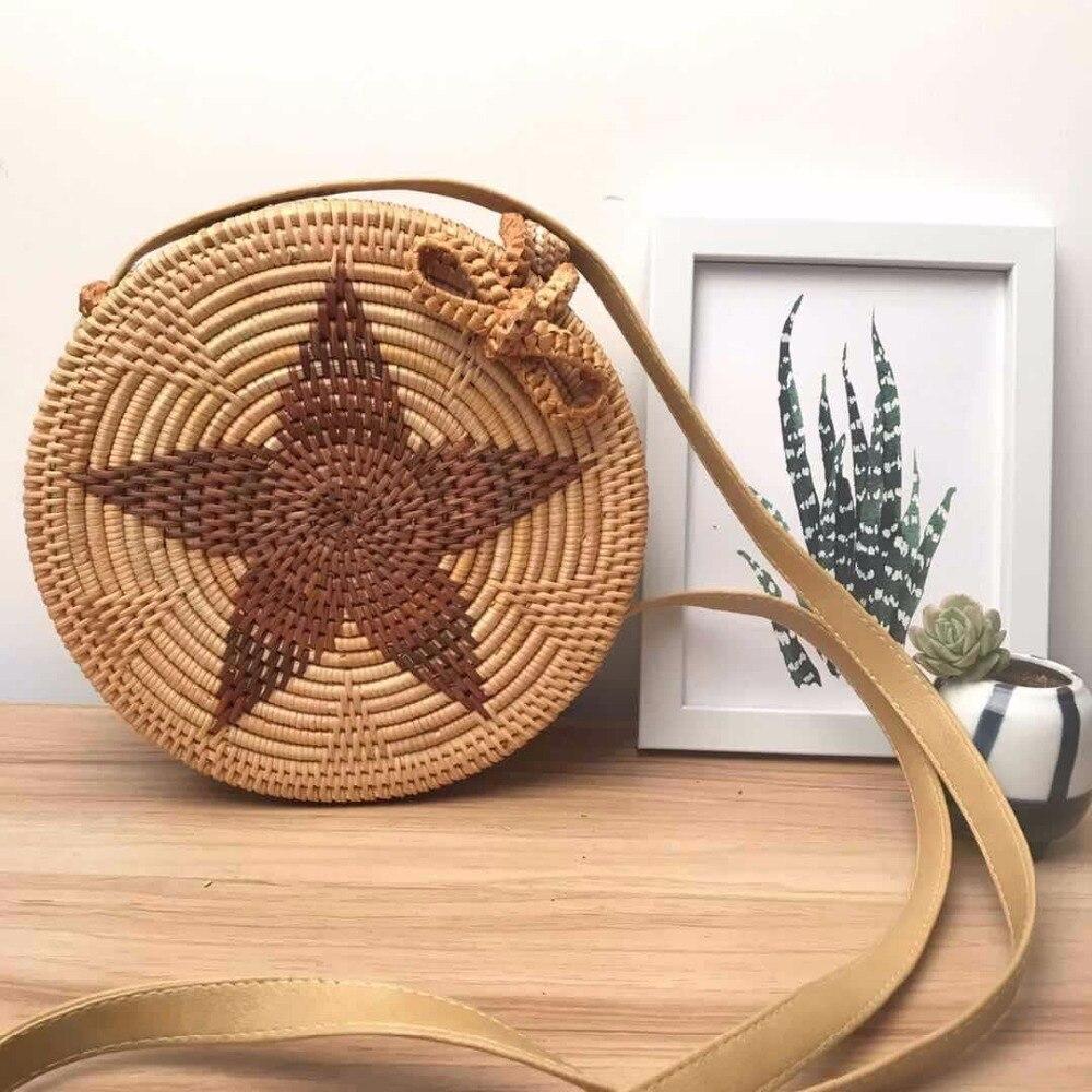 ZHIERNA Fashion Mini Summer Straw Bag Holiday Handbags Crossbody bags Small Rattan Bags Handmade Beach Bag for Women<br>