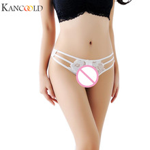 Buy KANCOOLD underwear women solid panties Bandage Lace g string sexy low waist Thongs V-String Panties Lingerie Underwear DEC12