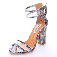 2017 Hot Sale Vogue Women Summer Shoes T-stage Fashion Thick High Dancing High Heel Ankle Sandals Sexy Stiletto Wedding Pumps